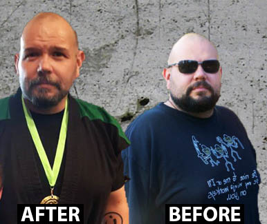 Man before and after training at Elevo Dynamics
