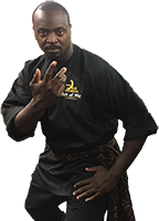 Hakim Isler in Silat pose