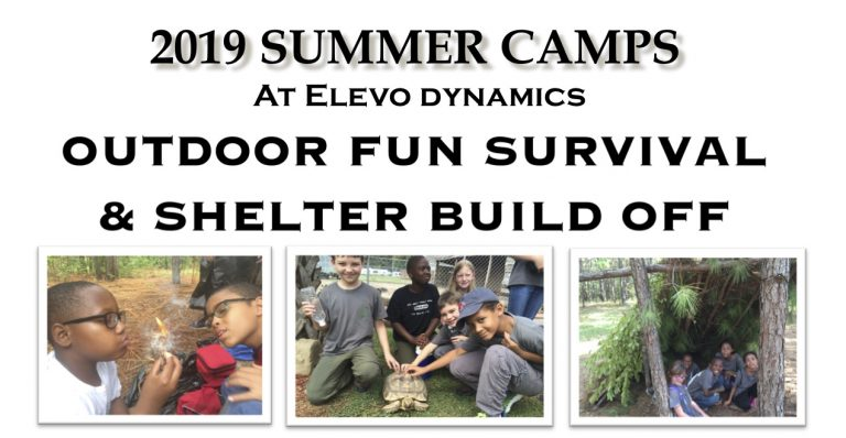 Ninja Outdoor Fun  Survival and Shelter build off Summer Camp!